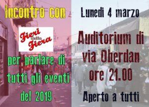 1° incontro aperto a tutti per il 2019 con Fieri della fiera @ Gorgonzola